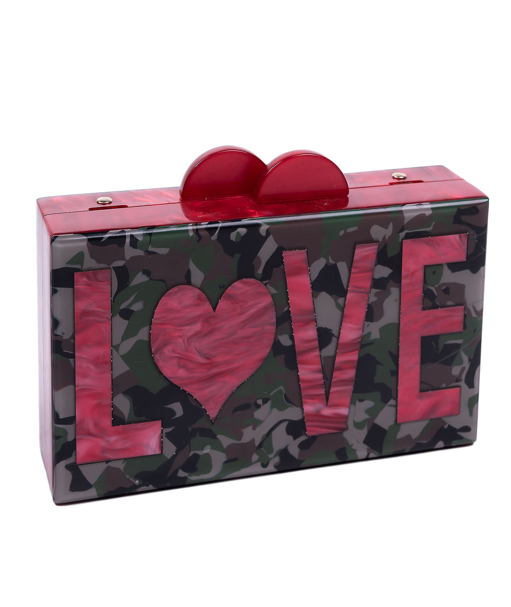 Bari Lynn Camo Love Box Bag