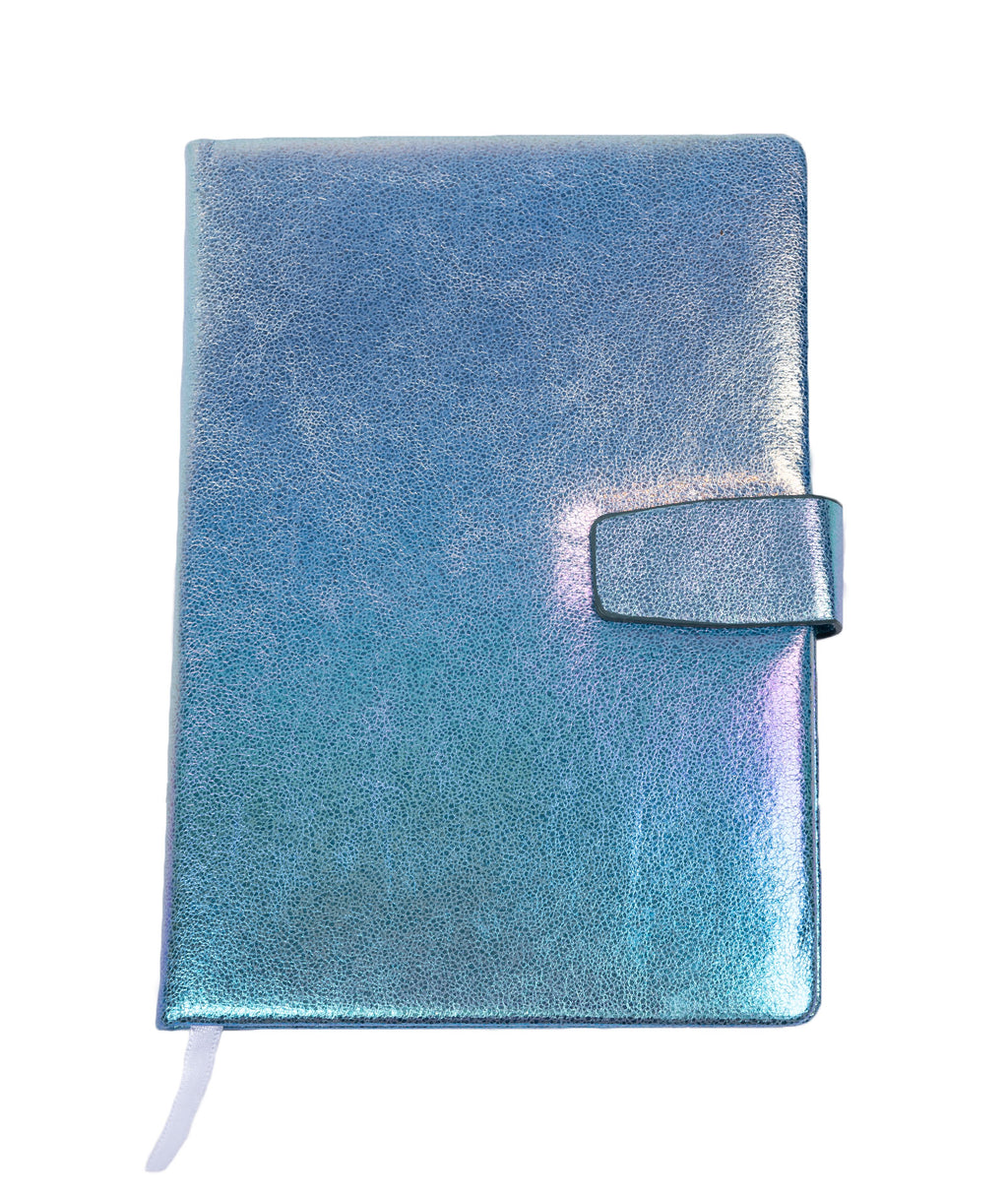 Bari Lynn Blue Glitter Notebook