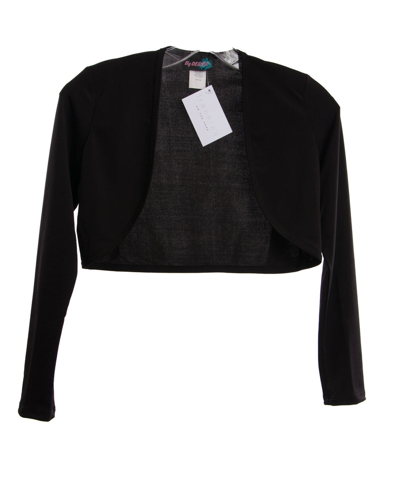 Milly Girls Black Ruffle Cardigan