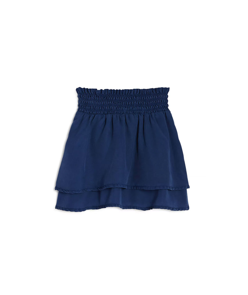 Bella Dahl Girls Blue Double Layer Skirt