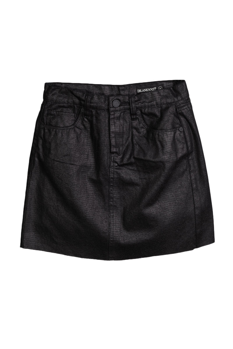 Blank NYC Women Black Coated Skirt