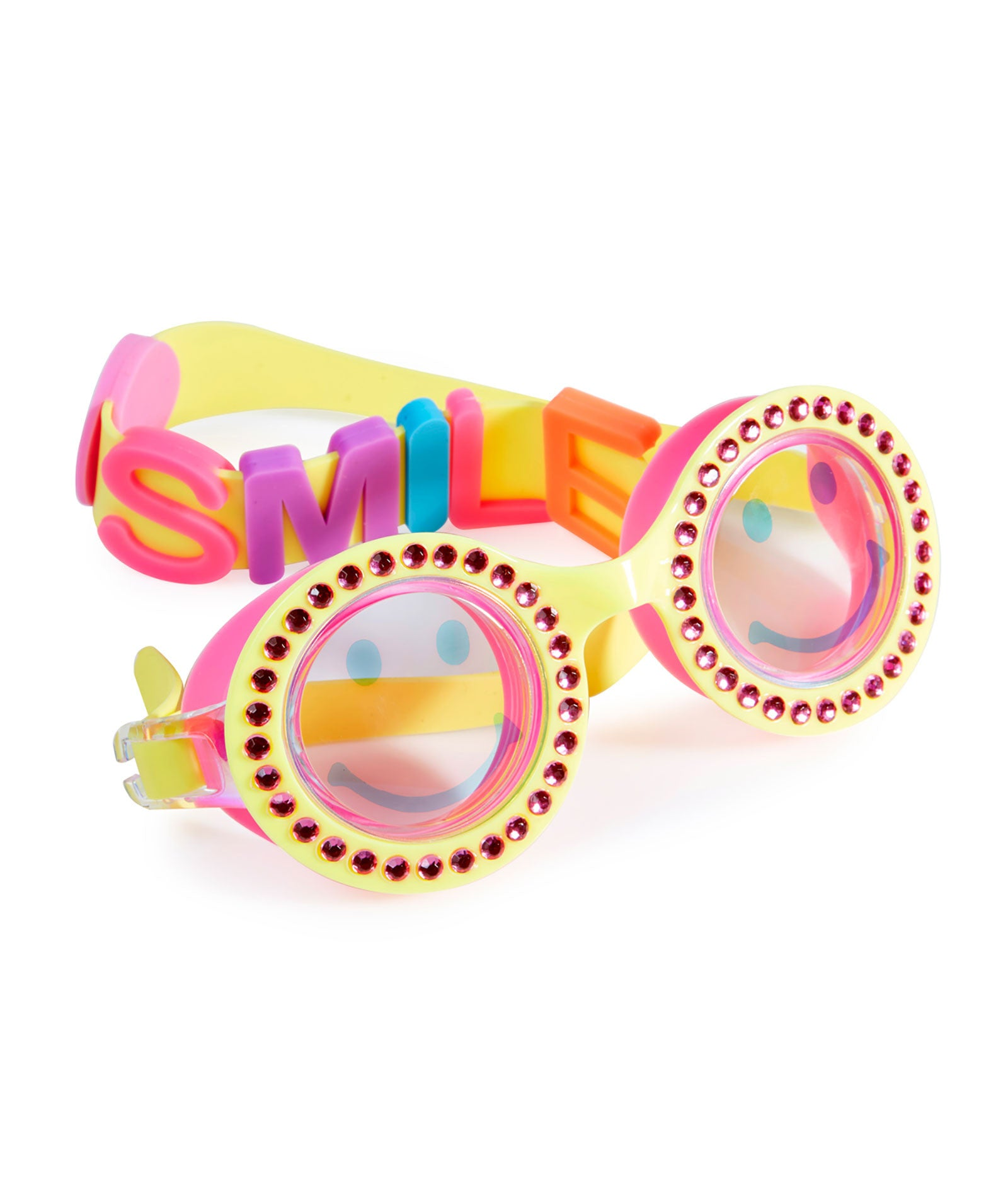 Bling2o Girls Be Happy Yellow Swim Goggles