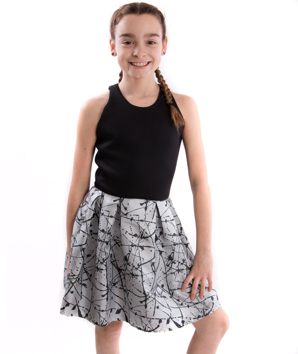By Debra Girls Scuba Splatter Dress - Frankie's on the Park