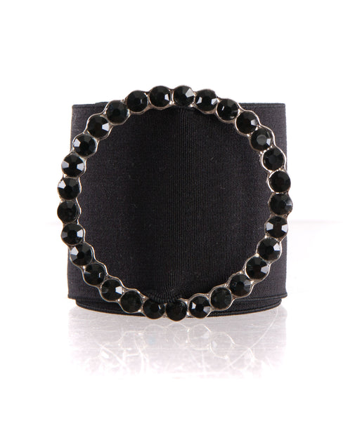 By Debra Girls Black Circle Emblem Belt