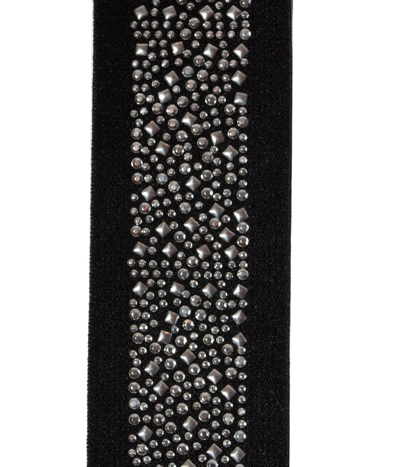 By Debra Girls Black and Silver Stud Belt