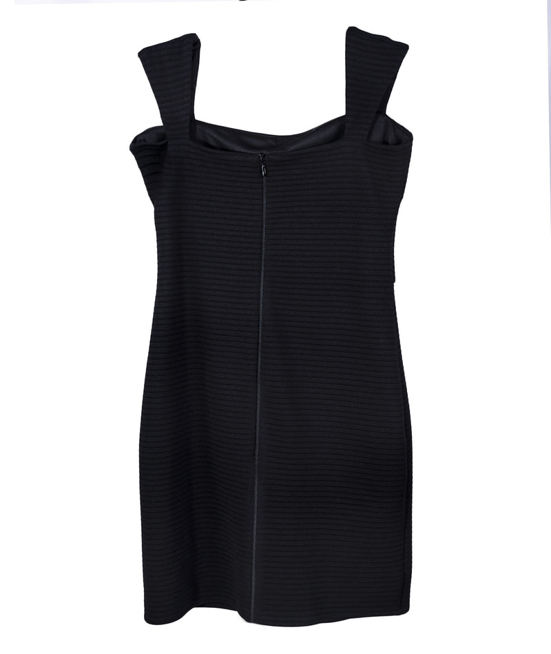 By Debra Girls Black Rib Bandage Dress