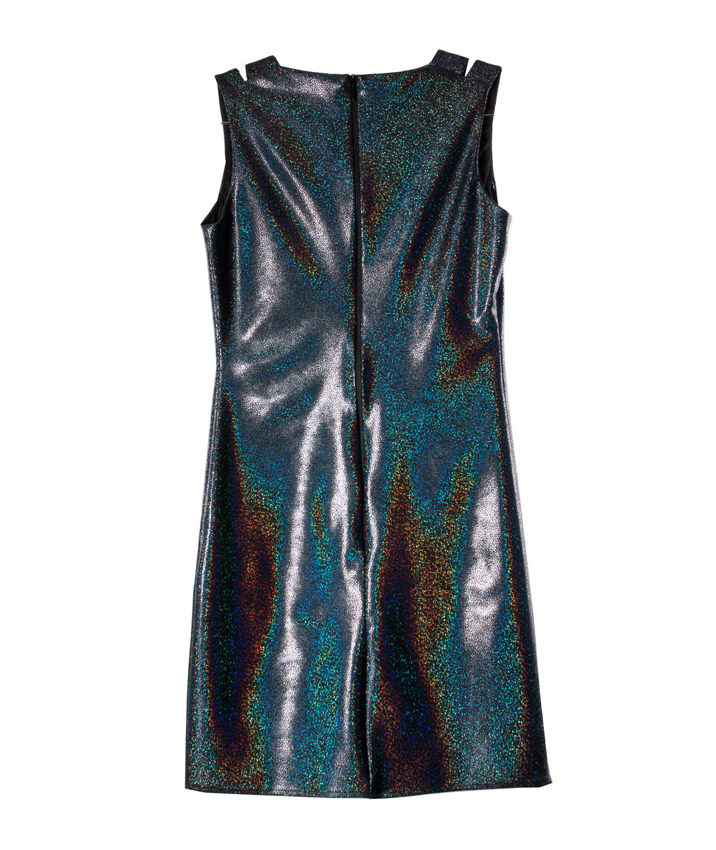 By Debra Girls Wet Look Straight Dress