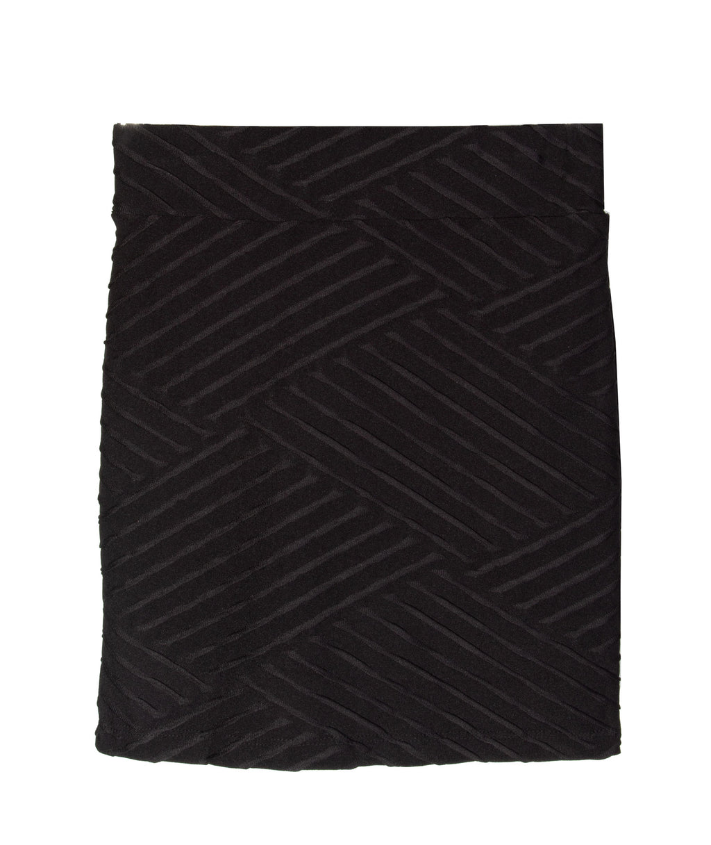 By Debra Girls Geometric Zig Zag Black Skirt
