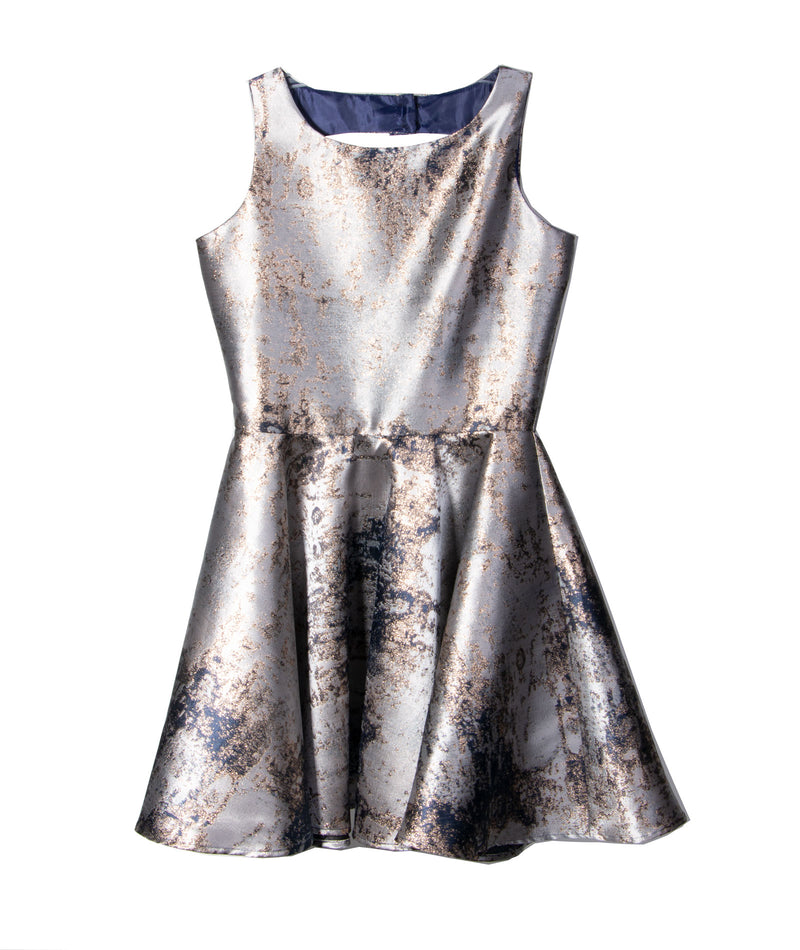 By Debra Girls Silver Flare Fit Dress