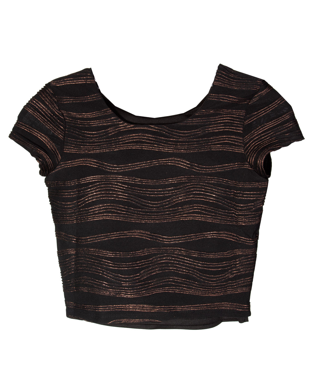 By Debra Girls Bronze Party Top