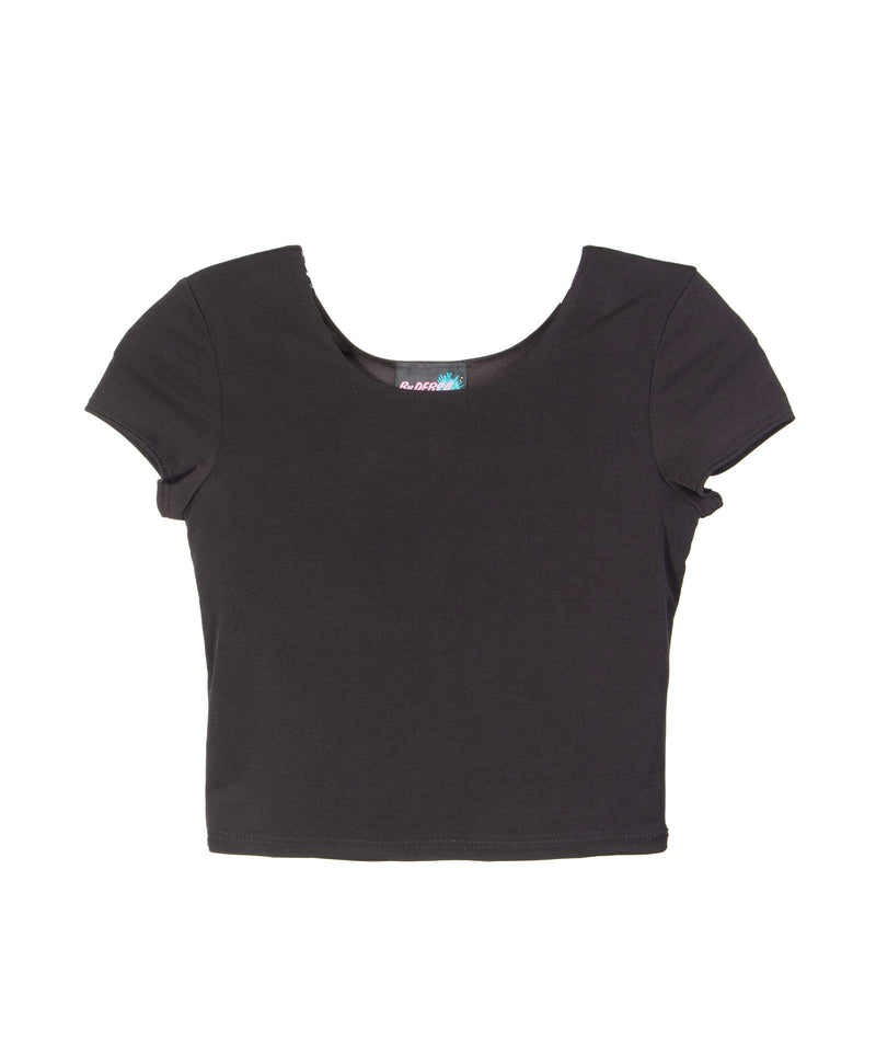 By Debra Girls Black Crop Top