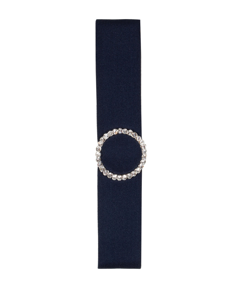 By Debra Girls Rhinestone Navy Belt