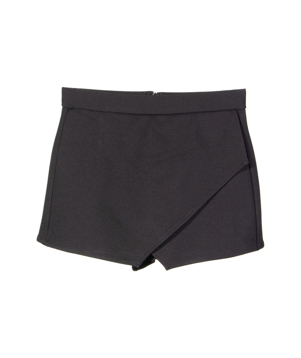 By Debra Girls Black Ponte Skort