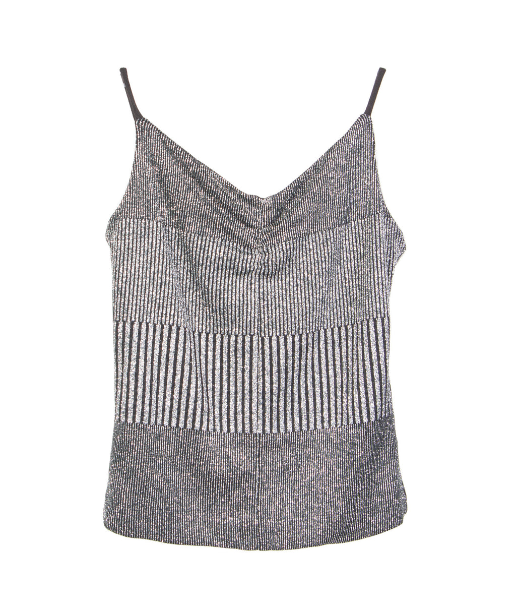 By Debra Girls Silver Sparkle Tank