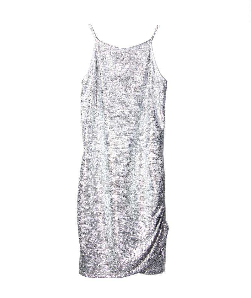 By Debra Girls Silver Metallic Dress