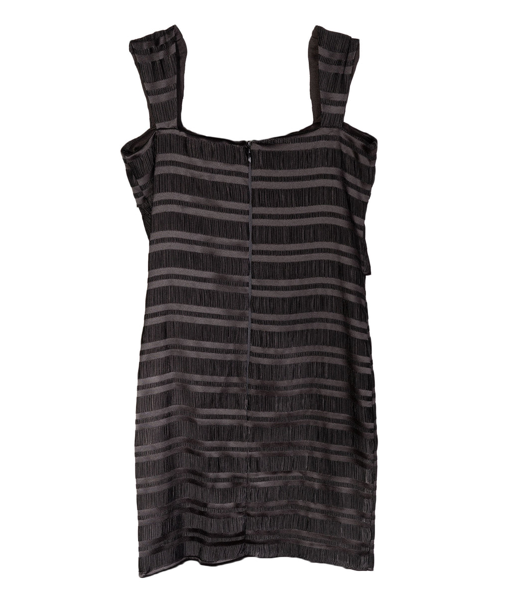 By Debra Girls Black Cross-Rib Dress
