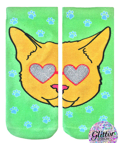 Living Royal Cat Walk Glitter Socks