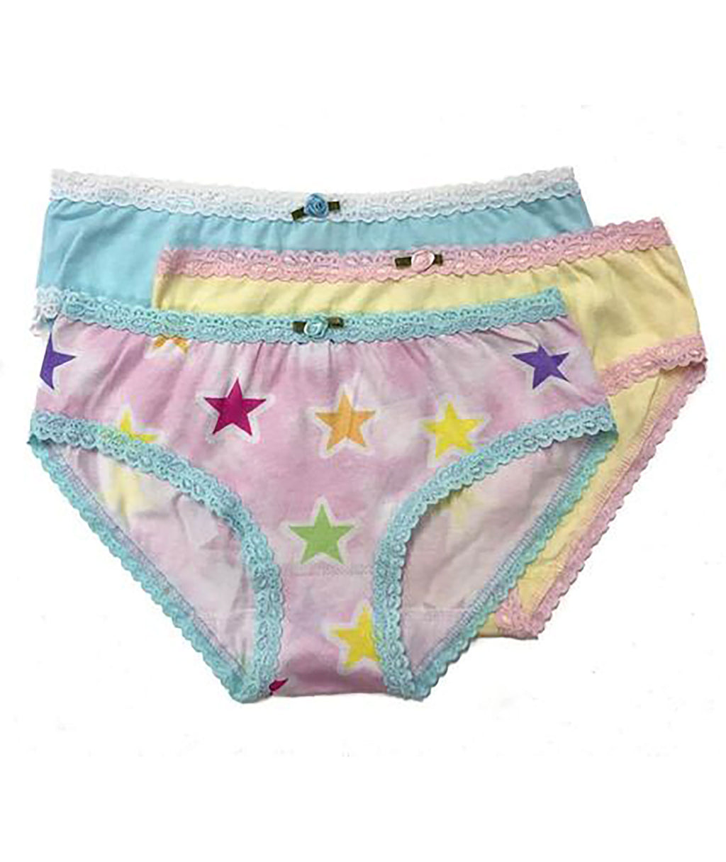 Esme Girls Shimmer Rainbow Star Panty Set