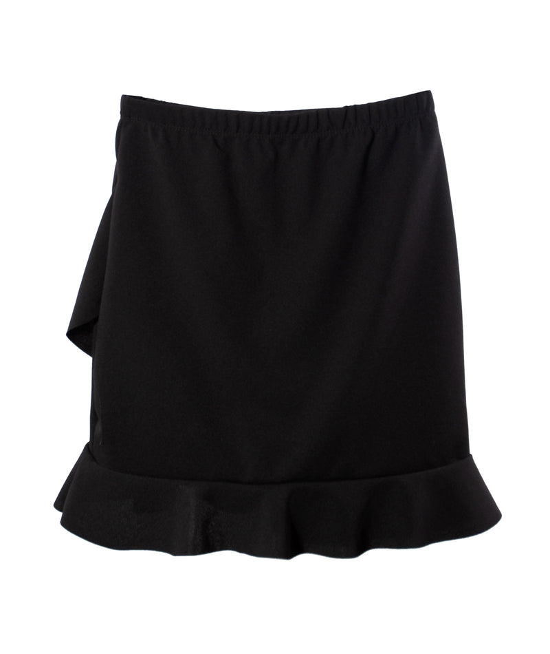Cheryl Creations Girls Black Ruffle Skirt