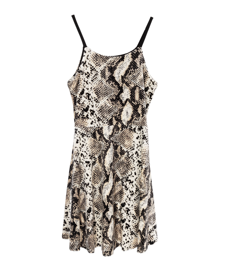Cheryl Creations Girls Snake Round Neck Dress