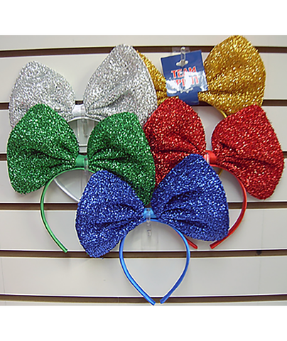 Confetti and Friends Color War Sparkle Bow Headband - Frankie's on the Park