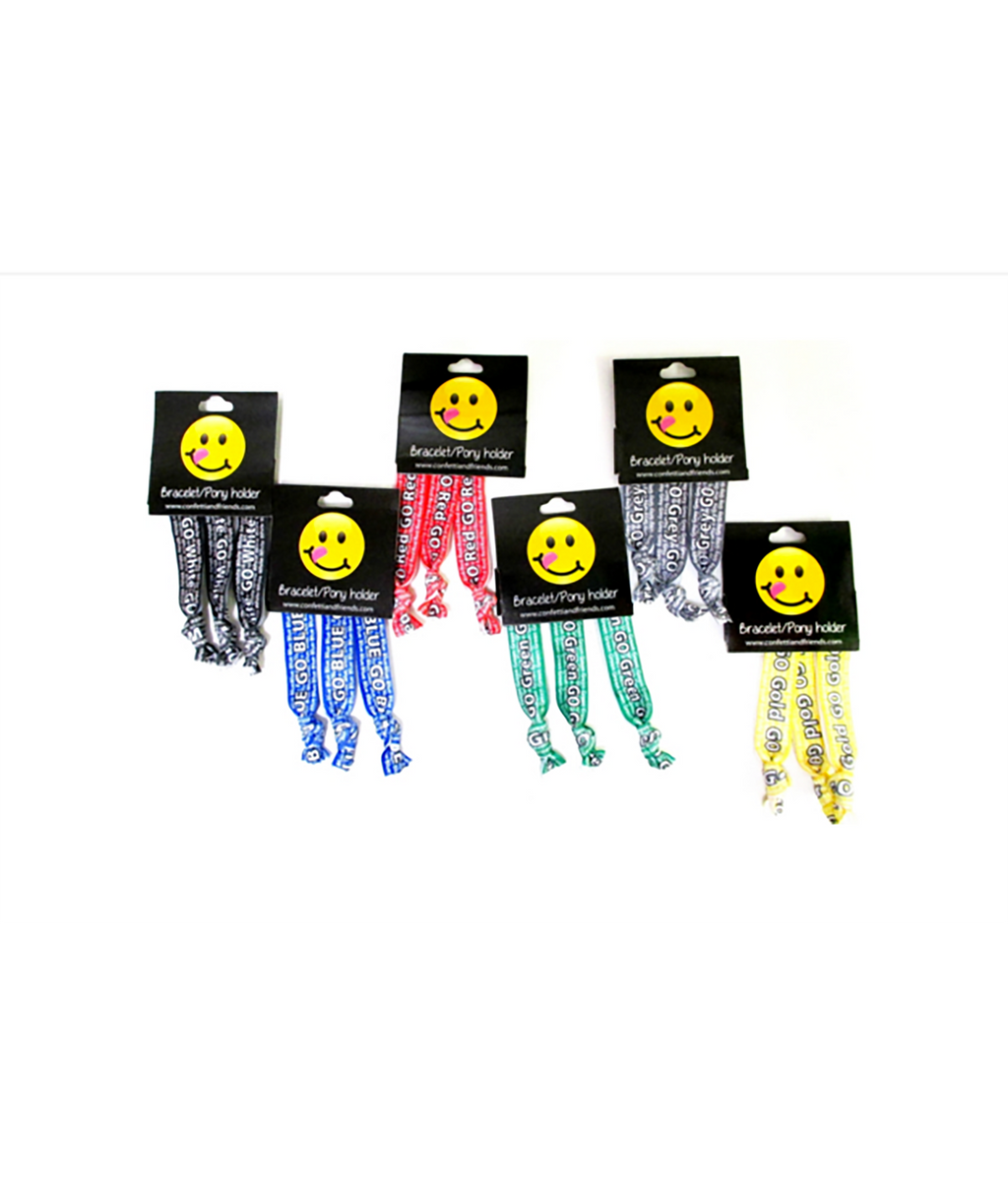 Confetti and Friends Color War 3 Piece Graphic Hair Ties - Frankie's on the Park