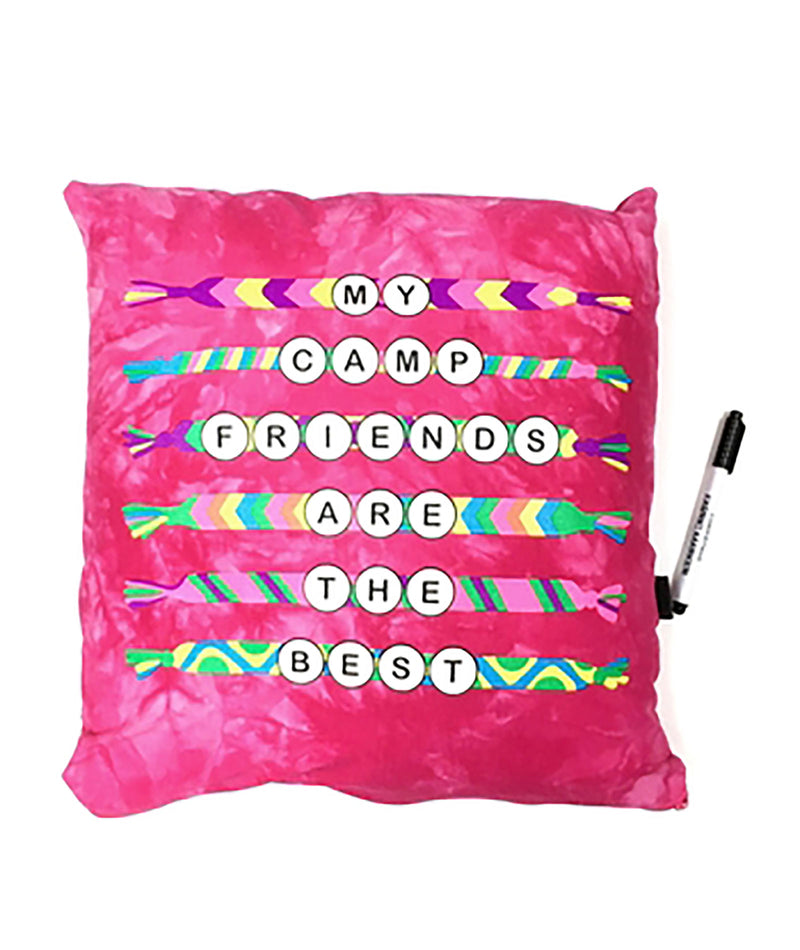 Confetti and Friends Pink Friendship Bracelet Autograph Pillow