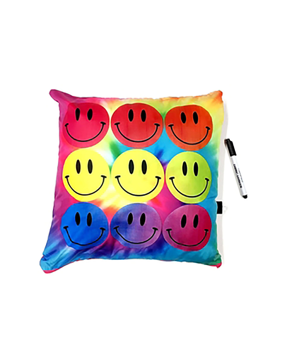 Confetti and Friends Rainbow Smiles Autograph Pillow