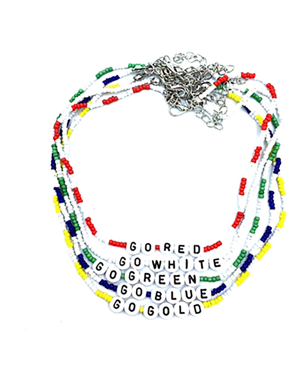 Confetti and Friends Color War Bead Choker