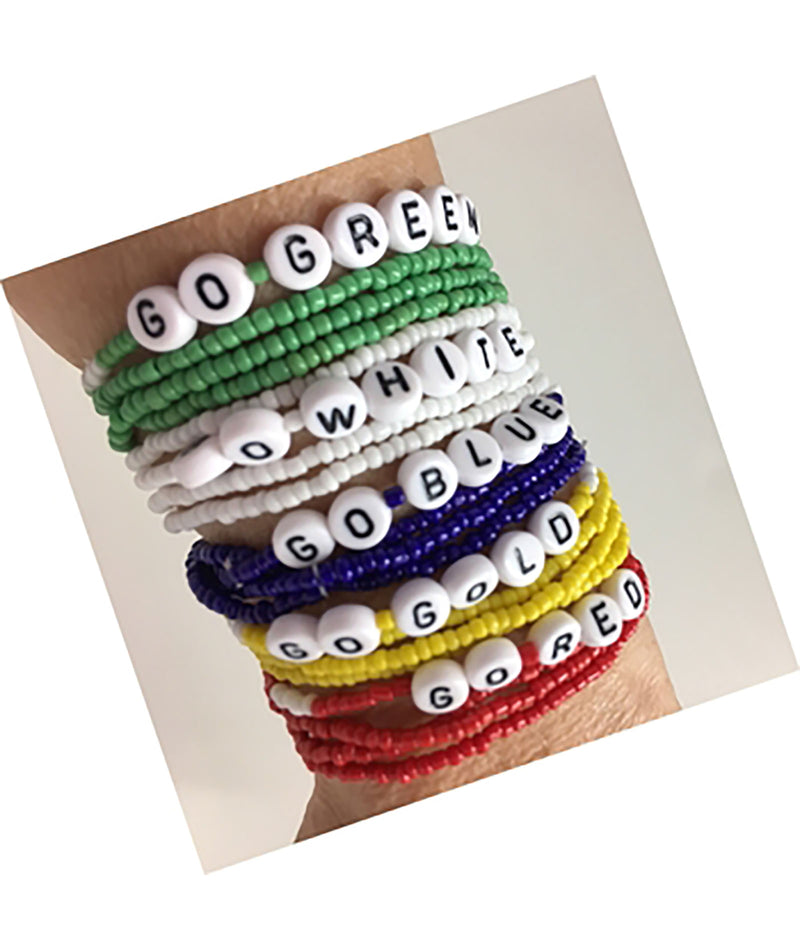Confetti and Friends Color War Bead Bracelet