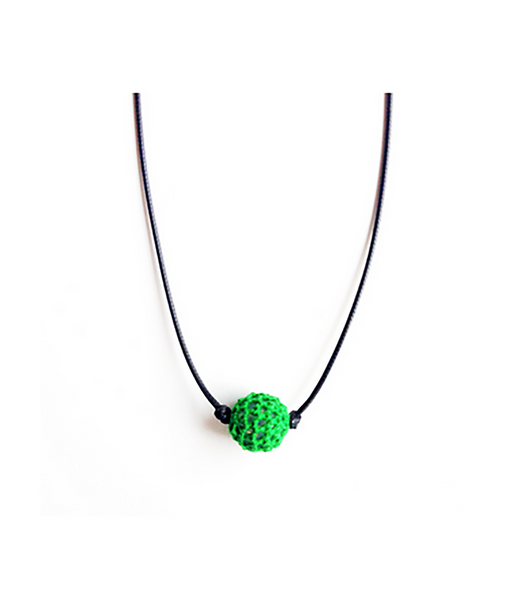 Confetti and Friends Color War Camp Crochet Ball Choker Necklaces