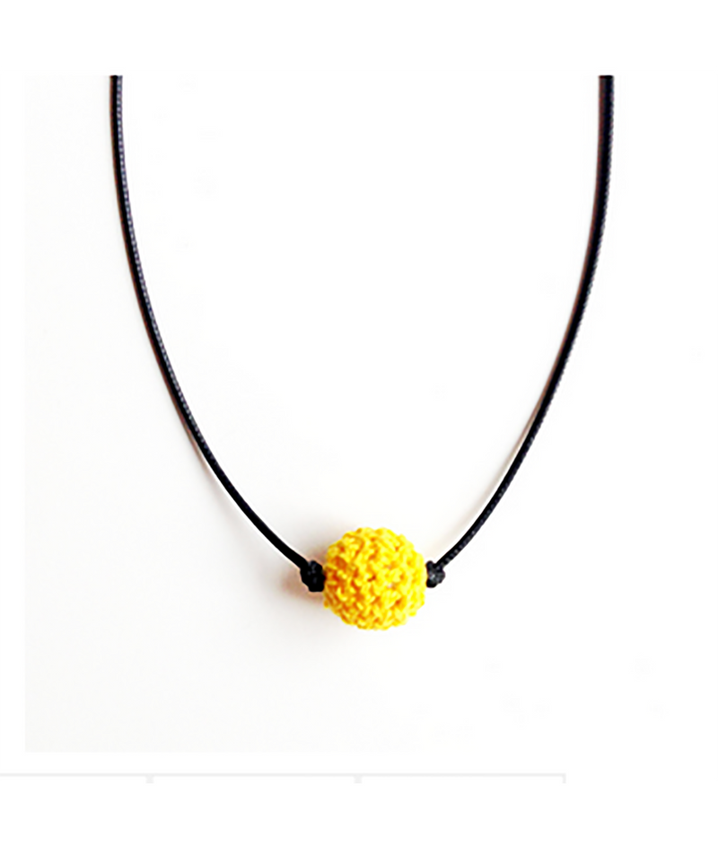 Confetti and Friends Color War Camp Crochet Ball Choker Necklaces | Frankie's on the Park