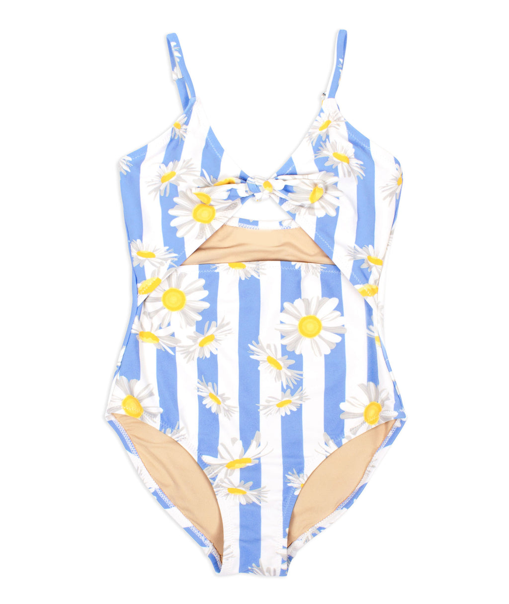 Shade Critters Girls Monokini Daisy Stripe