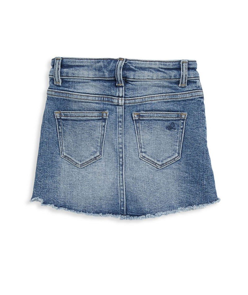 DL1961 Girls Blue Rose Denim Skirt