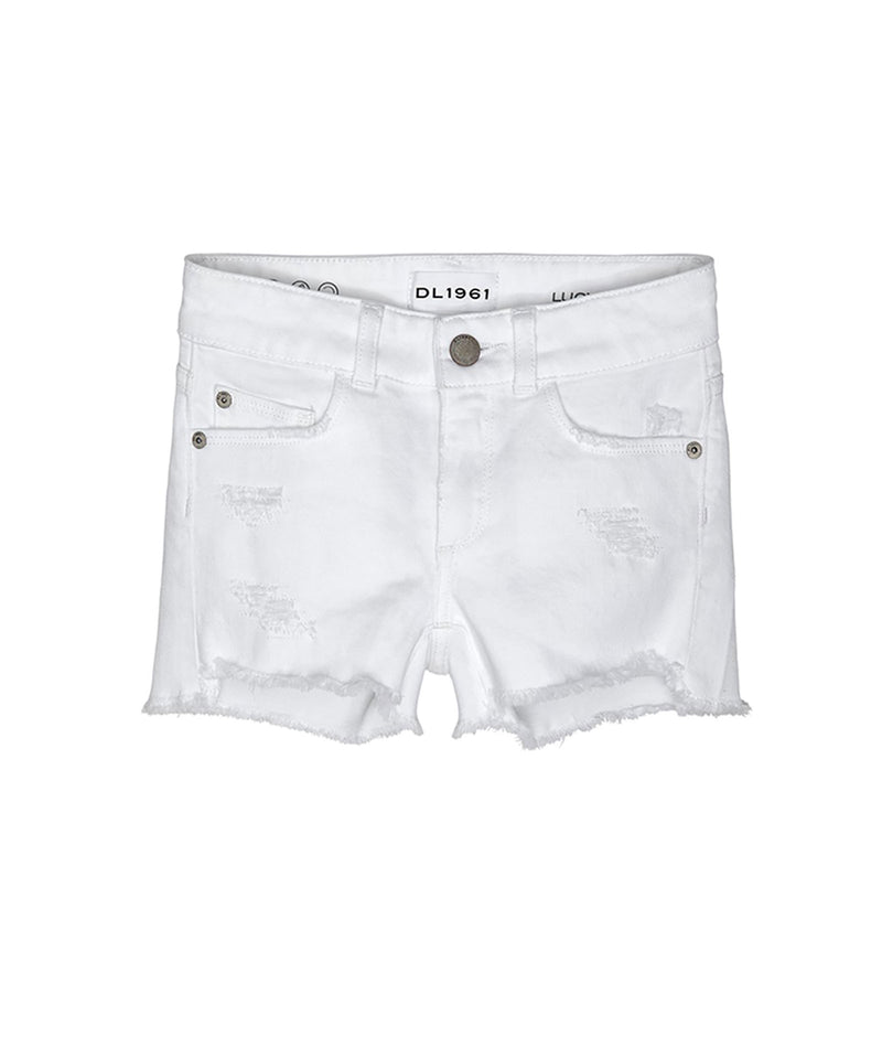 DL1961 Girls White Lucy Denim Shorts