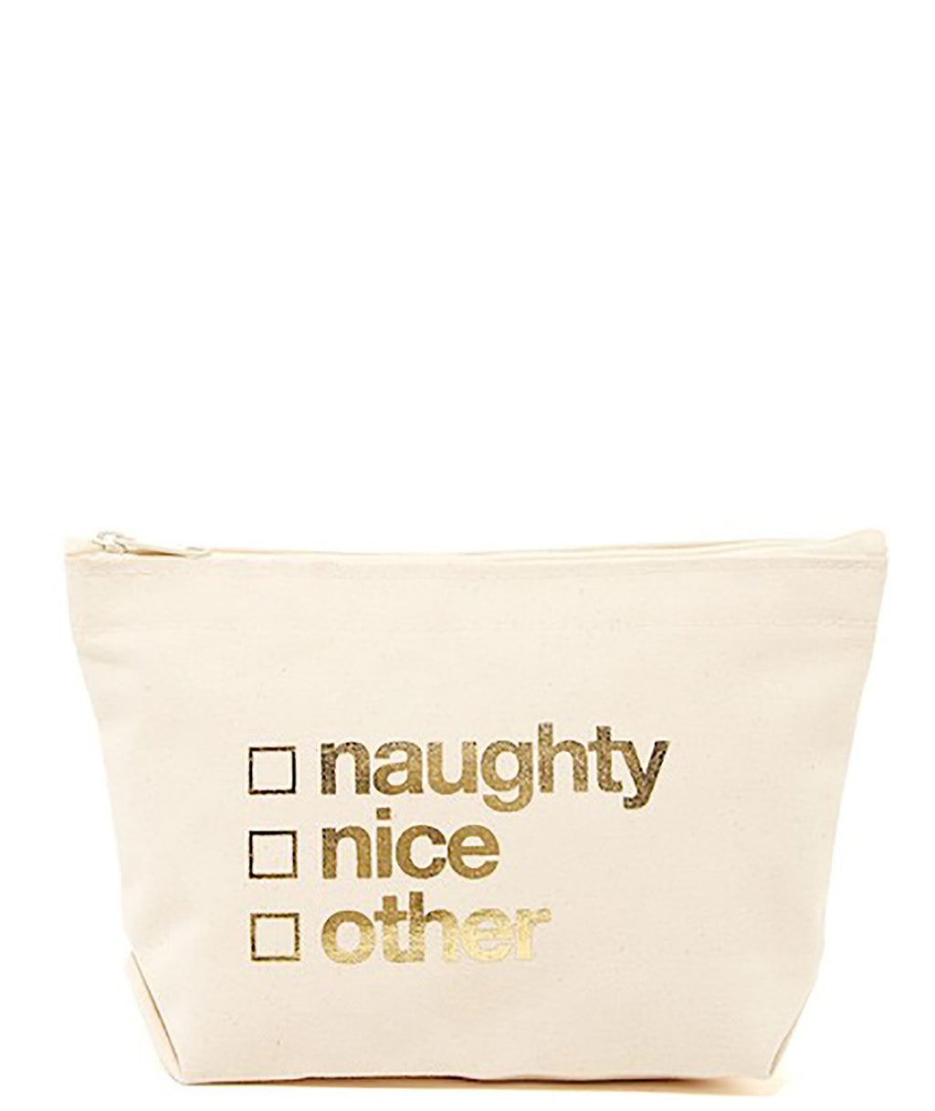Dogeared Naughty or Nice Canvas Pouch