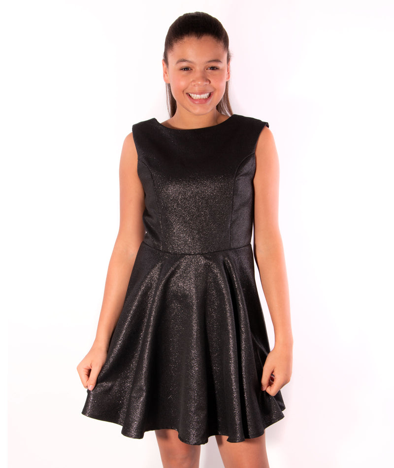 Sally Miller Juniors Manhattan Black Silver Dress