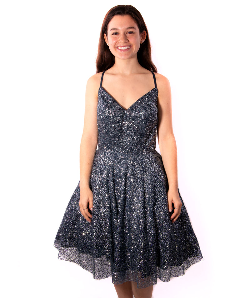 Jovani Junior Sparkle Navy Dress