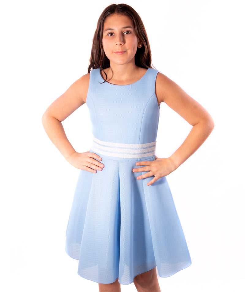 Zoe Ltd. Girls Carleigh Light Blue Dress