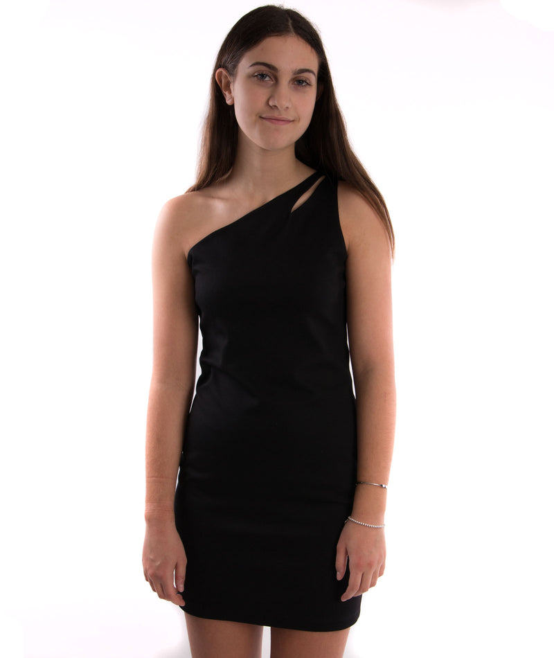By Debra Womens One Shoulder Dress in Black - Frankie's on the Park
