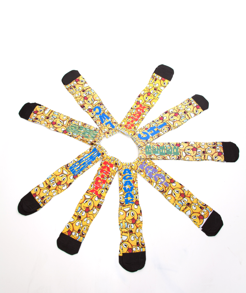 Truly Whimsical Camp Emoji High Socks - Frankie's on the Park