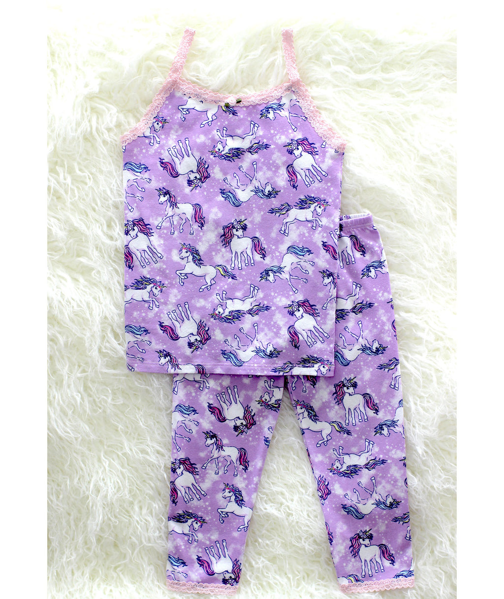 Esme Girls Lavender Unicorn Pajama Set