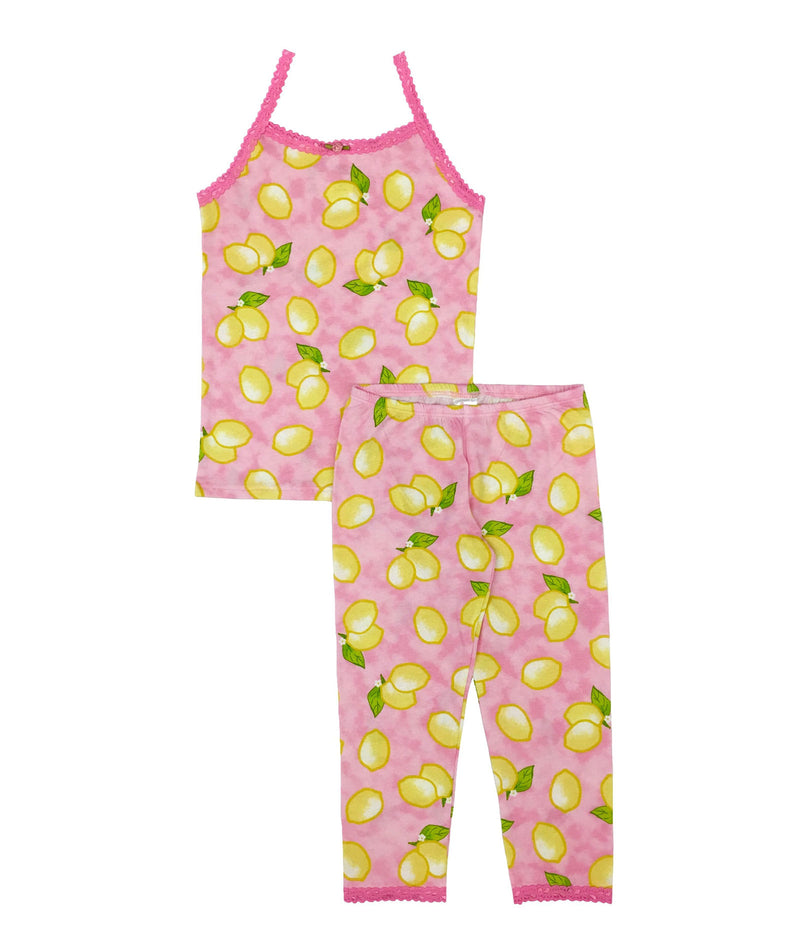 Esme Girls Lemon Tank and Leggings Pajama Set