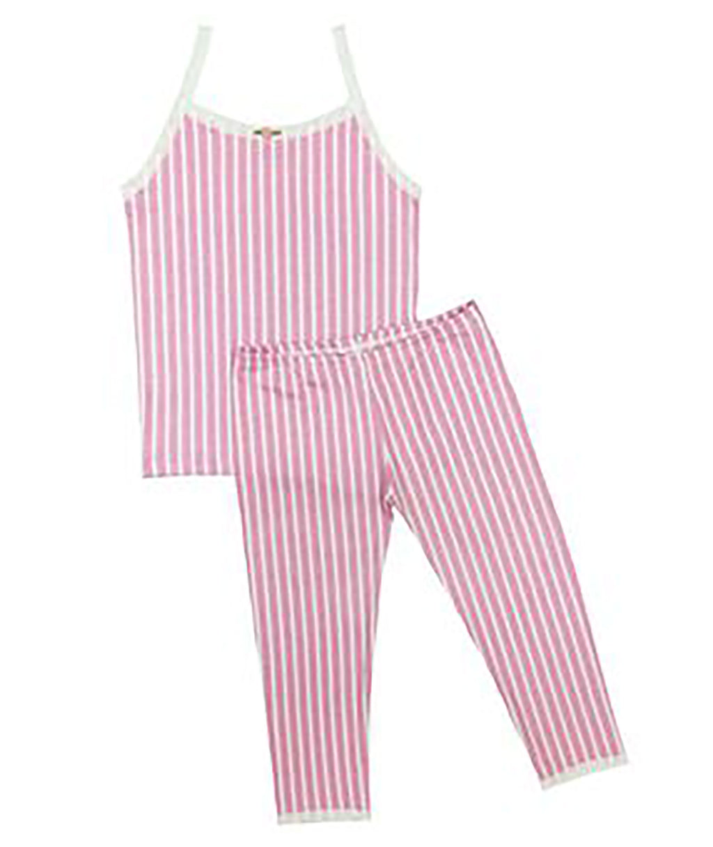 Esme Girls Pink Stripe PJ Set