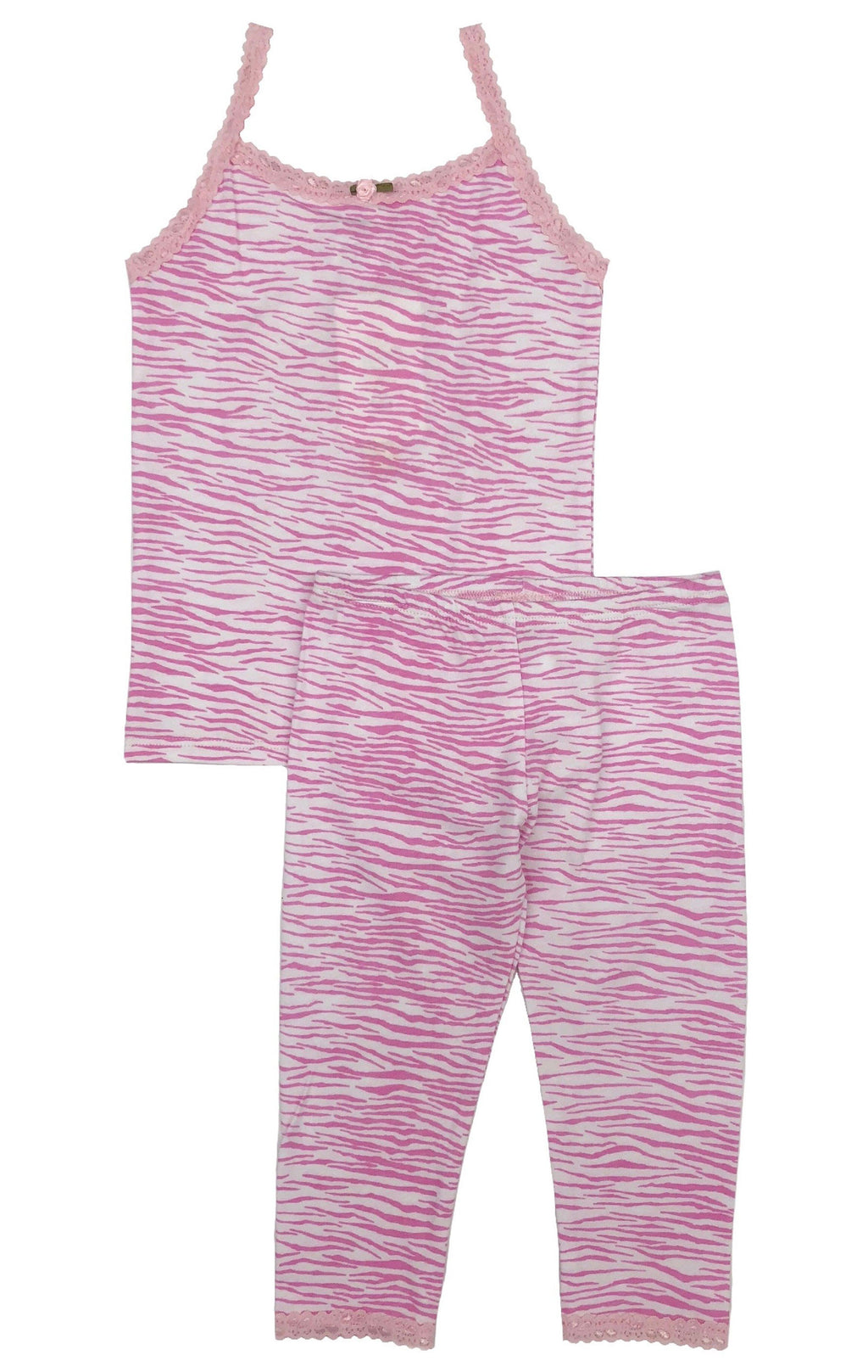 Esme Girls Pink Zebra PJ Set