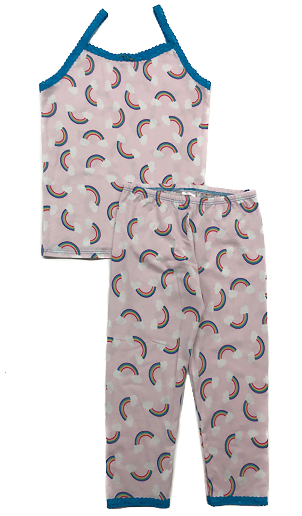 Esme Girls Pink Rainbow Pajama Pant Set