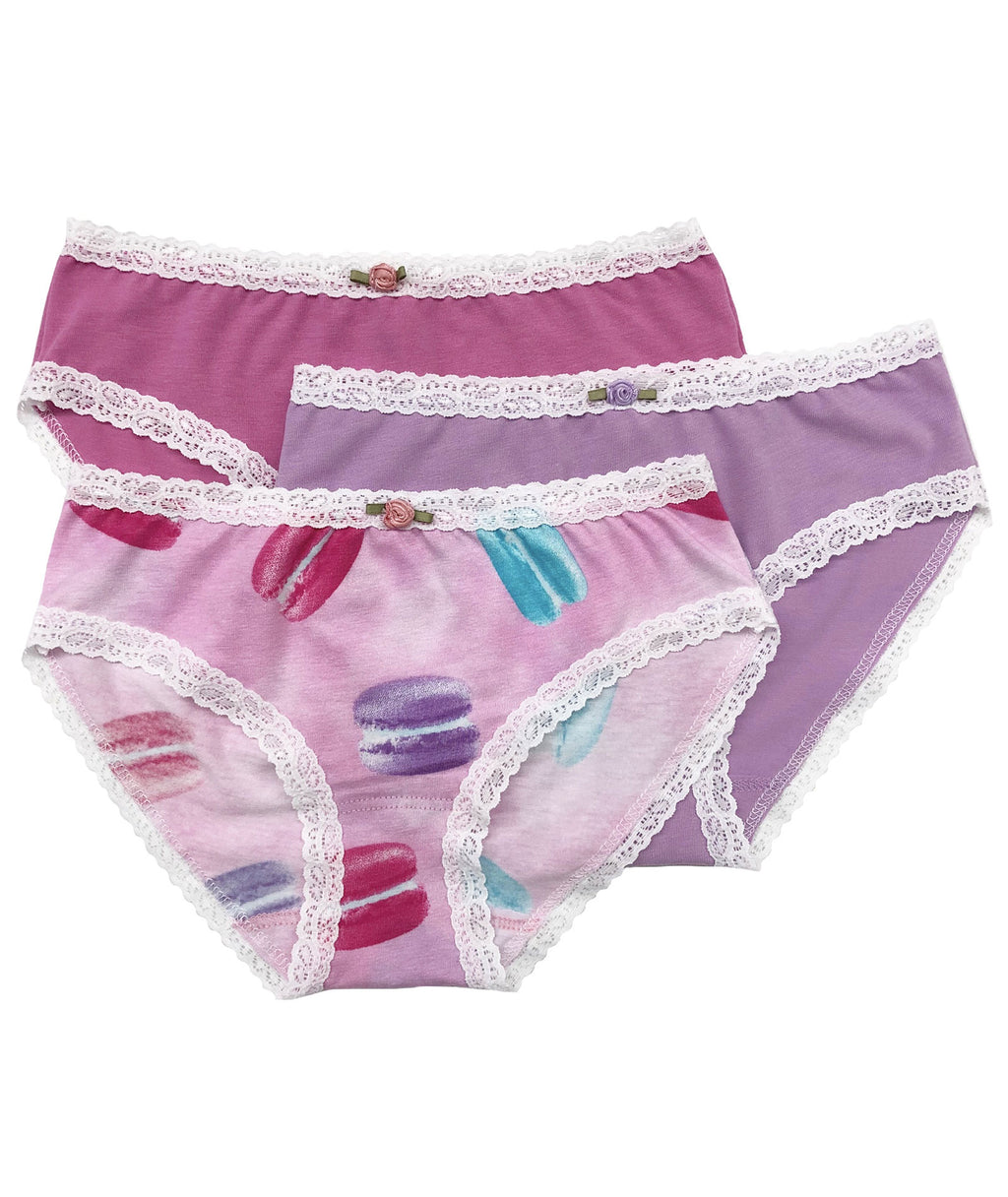 Esme Girls Pink Macaroon Panty Set
