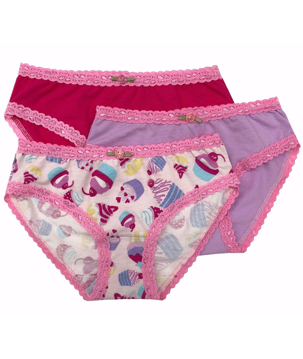 Esme Girls Pink Cupcake Panty Set