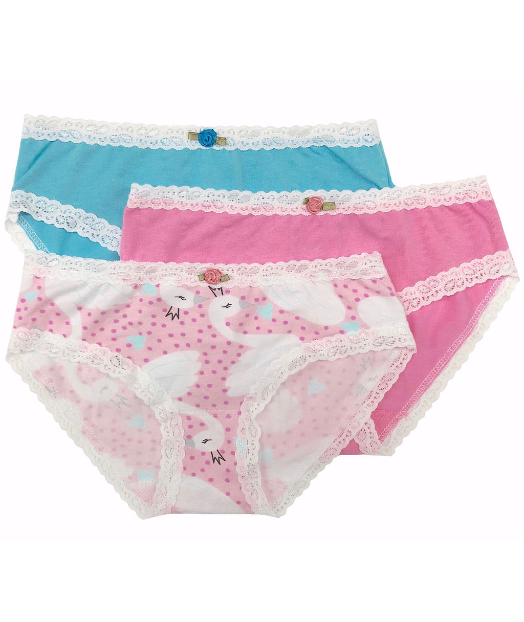 Esme Girls Swan Pantie Set