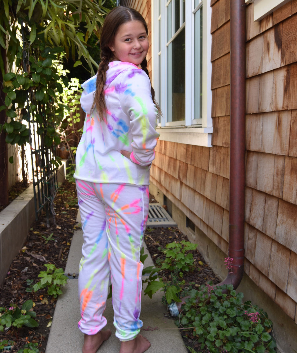Firehouse Girls Neon Tie-Dye Sweatpants